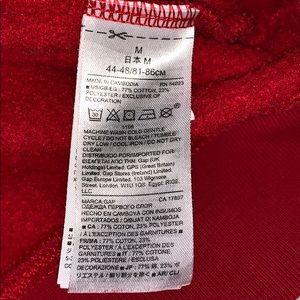 GAP Shirts - Red hooded GAP sweatshirt